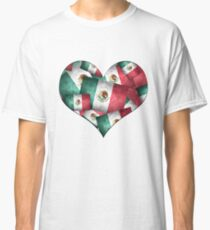 Grunge-Style Mexican Flag  Classic T-Shirt