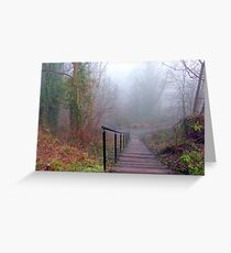 Steps in the Fog Greeting Card