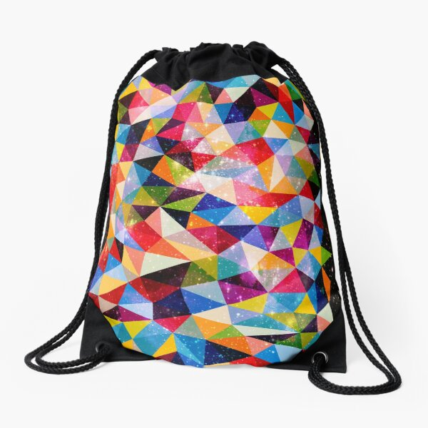 Space Shapes Drawstring Bag