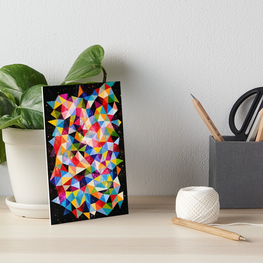 Space Shapes Art Board Print