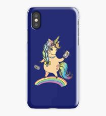 Funny cute unicorn girl iPhone Case/Skin