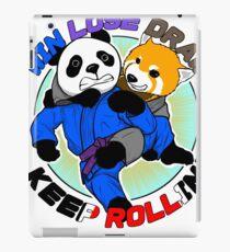 BJJ Jiu Jitsu T Shirt Win Lose Draw Keep Rollin iPad Case/Skin