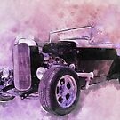 32 Ford Roadster Ink and Watercolour Rendering by ChasSinklier