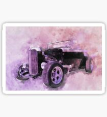 32 Ford Roadster Ink and Watercolour Rendering Sticker
