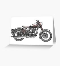 Royal Enfield Motorcycle Greeting Card