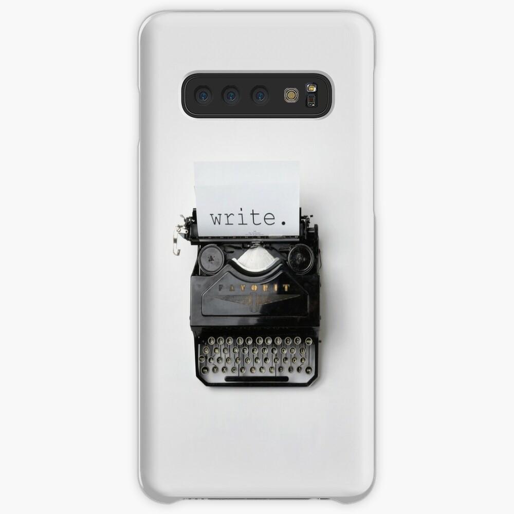 Schreiben, schreiben, schreiben. Hülle & Klebefolie für Samsung Galaxy