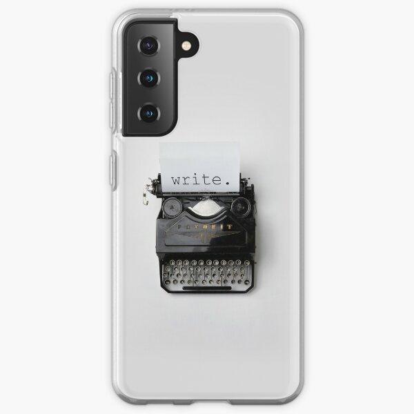 Escribir, escribir, escribir. Funda blanda para Samsung Galaxy