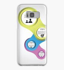 infographic template design Samsung Galaxy Case/Skin