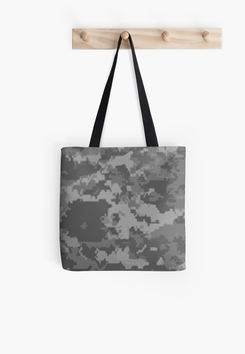 Gray Digi Camo Style Camouflage Pattern by Adri Turner