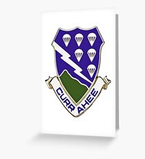 Currahee - 506th Infantry - 101st Airborne  Greeting Card