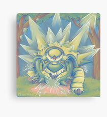 Spikey Shield_painted Canvas Print