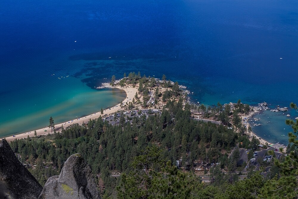 Sand Harbor from the Flume by Richard Thelen
