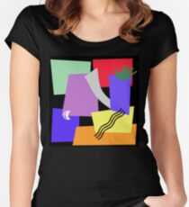 DON'T TOUCH Women's Fitted Scoop T-Shirt