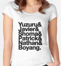 Yuzuru Hanyu, Javier Fernandez, Shoma Uno, Patrick Chan, Nathan Chen, Boyang Jin Women's Fitted Scoop T-Shirt