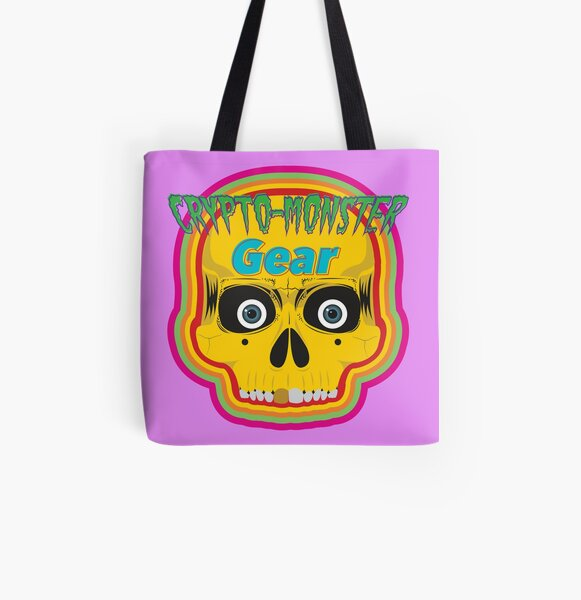 Crypto-Monster Gear Logo All Over Print Tote Bag