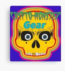 Crypto-Monster Gear Logo Canvas Print