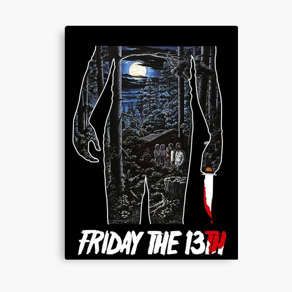 Friday the 13th Movie Poster Canvas Print