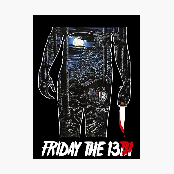 Friday the 13th Movie Poster Photographic Print