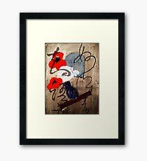 Poppies Original Acrylic Painting Framed Print