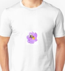 LILAC PURPLE BEE AND FLOWER Unisex T-Shirt