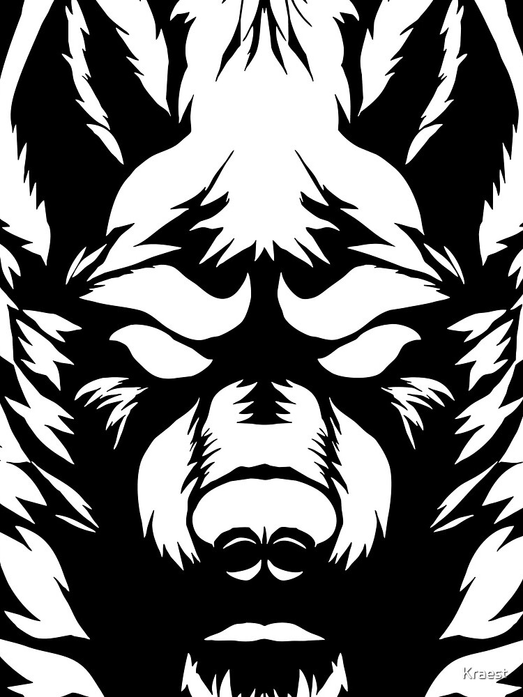 weißer Wolf von Kraest