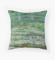 Claude Monet The Japanese Footbridge 1899 Painting Throw Pillow