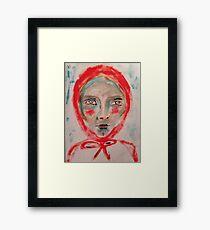 Red Hood Framed Print