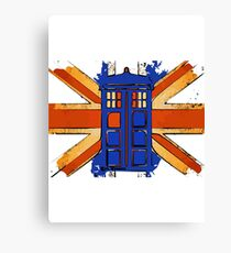 Dr Who - The Tardis - Vintage Jack Canvas Print