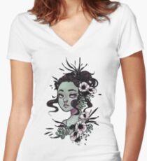 Obsidian Women's Fitted V-Neck T-Shirt