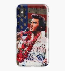 Elvis in Aloha white suit  iPhone Case/Skin
