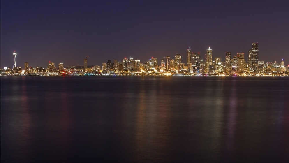 Seattle at Night by journeysincolor