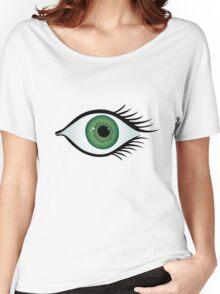 green eye Women's Relaxed Fit T-Shirt