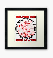 Solving one Guard at a Time BJJ T Shirt  Framed Print