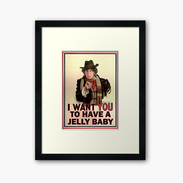 I want you to have a jelly baby Framed Art Print