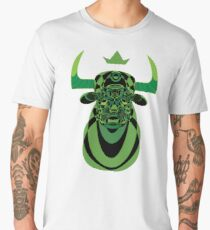 Geometric Green Bull Men's Premium T-Shirt