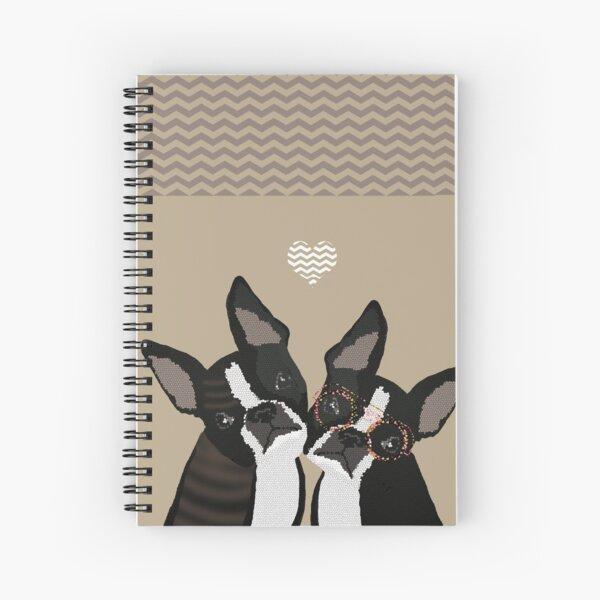 boston terriers love Spiral Notebook