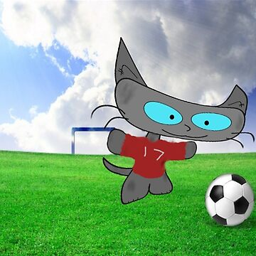 Cat Soccer Star by JohnsCatzz