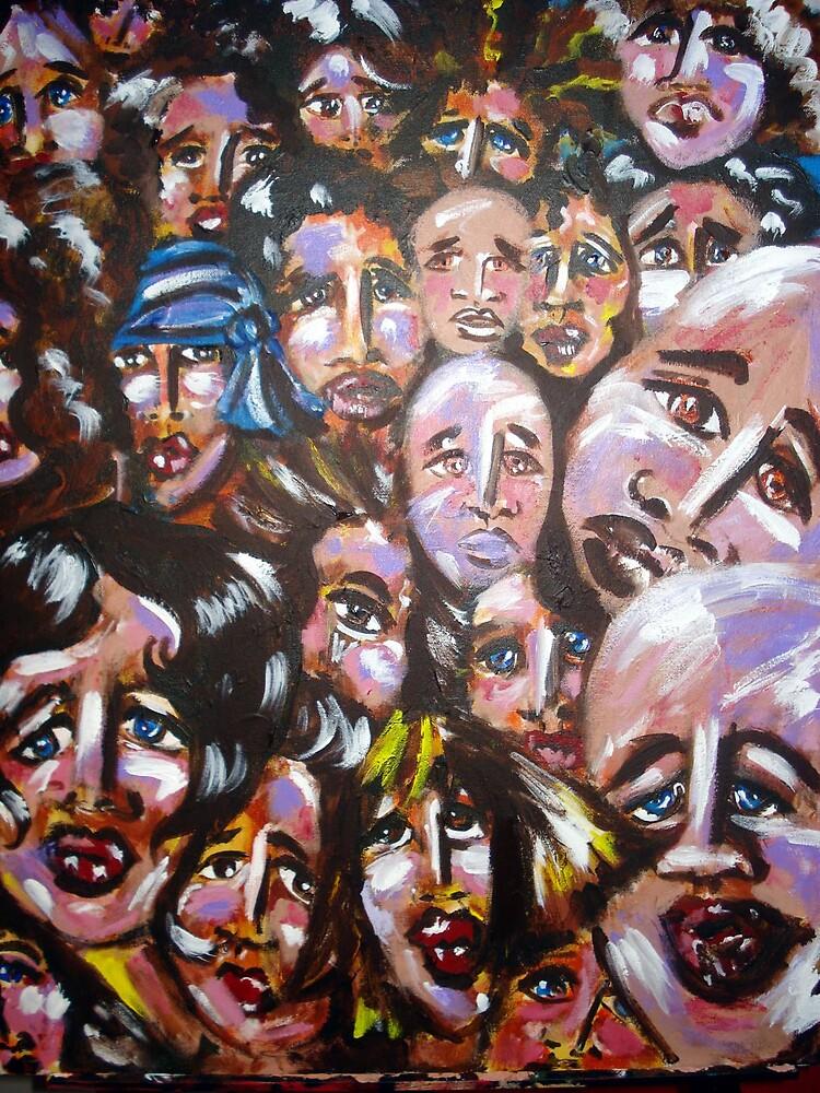 faces of Blue by ellen mayer