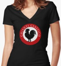 Black Rooster Chianti Classico Women's Fitted V-Neck T-Shirt