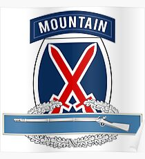 10th Mountain CIB Poster