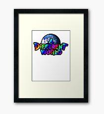 A Different World color Framed Print