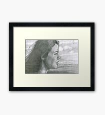 Windy Portrait Framed Print