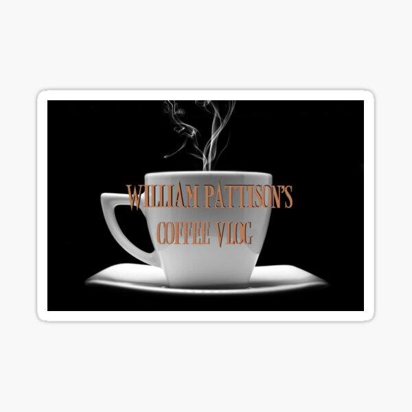 William Pattison Coffee Vlog Logo Sticker