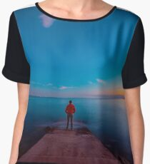 Sunset at the sea, Trieste Chiffon Top
