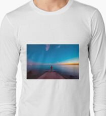 Sunset at the sea, Trieste Long Sleeve T-Shirt