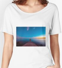 Sunset at the sea, Trieste Women's Relaxed Fit T-Shirt