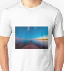 Sunset at the sea, Trieste Unisex T-Shirt