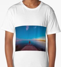 Sunset at the sea, Trieste Long T-Shirt
