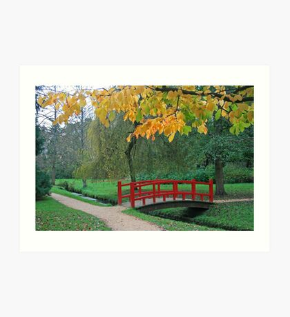 Red Bridge, Bournemouth Gardens Art Print