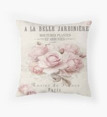 french shabby chic Throw Pillow